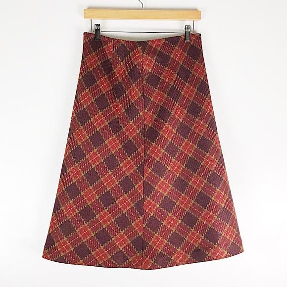 Vintage Dresses & Skirts - Vtg WilliSmith 100% Wool Plaid Mid-Length Skirt